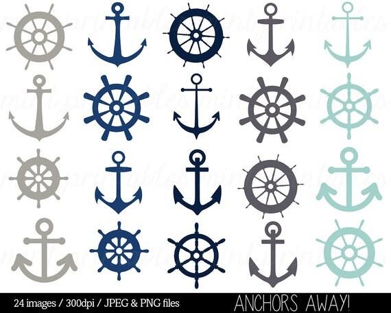 Nautische Clipart ClipArt  Anker Clipart  Clipart Helm  Segeln Ozean    Wedding Anchor Clip Art Free