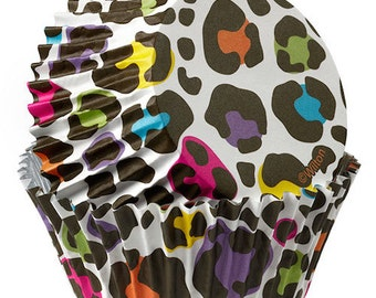 Leopard ColorCups Wilton Greaseproof Cupcake Liners Baking Cups Muffin Cups - Leopard Cupcake Liners