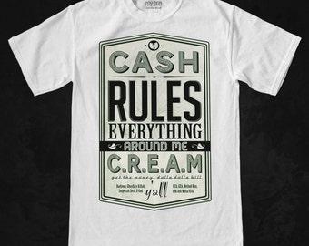 Wu Tang C.R.E.A.M. t shirt