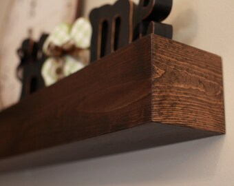 "Fireplace Mantle Wood Wall Shelf - Beam Style in lengths of 36"" 48"" 60"" 72"" and 84""-  Mantel"