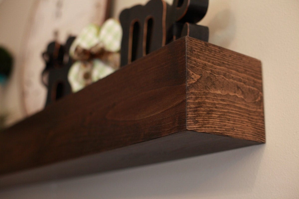 Wood Wall Shelf Mantle Beam Style in lengths of 36 by 302WoodWorks
