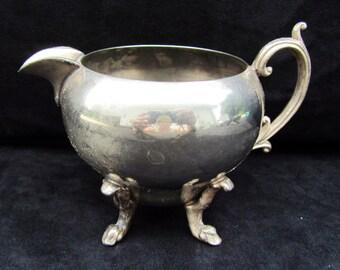 Vintage Ornate Silver Plated Creamer, wedding, serving