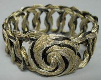 bracelet-handcrafted of woven metallic threads