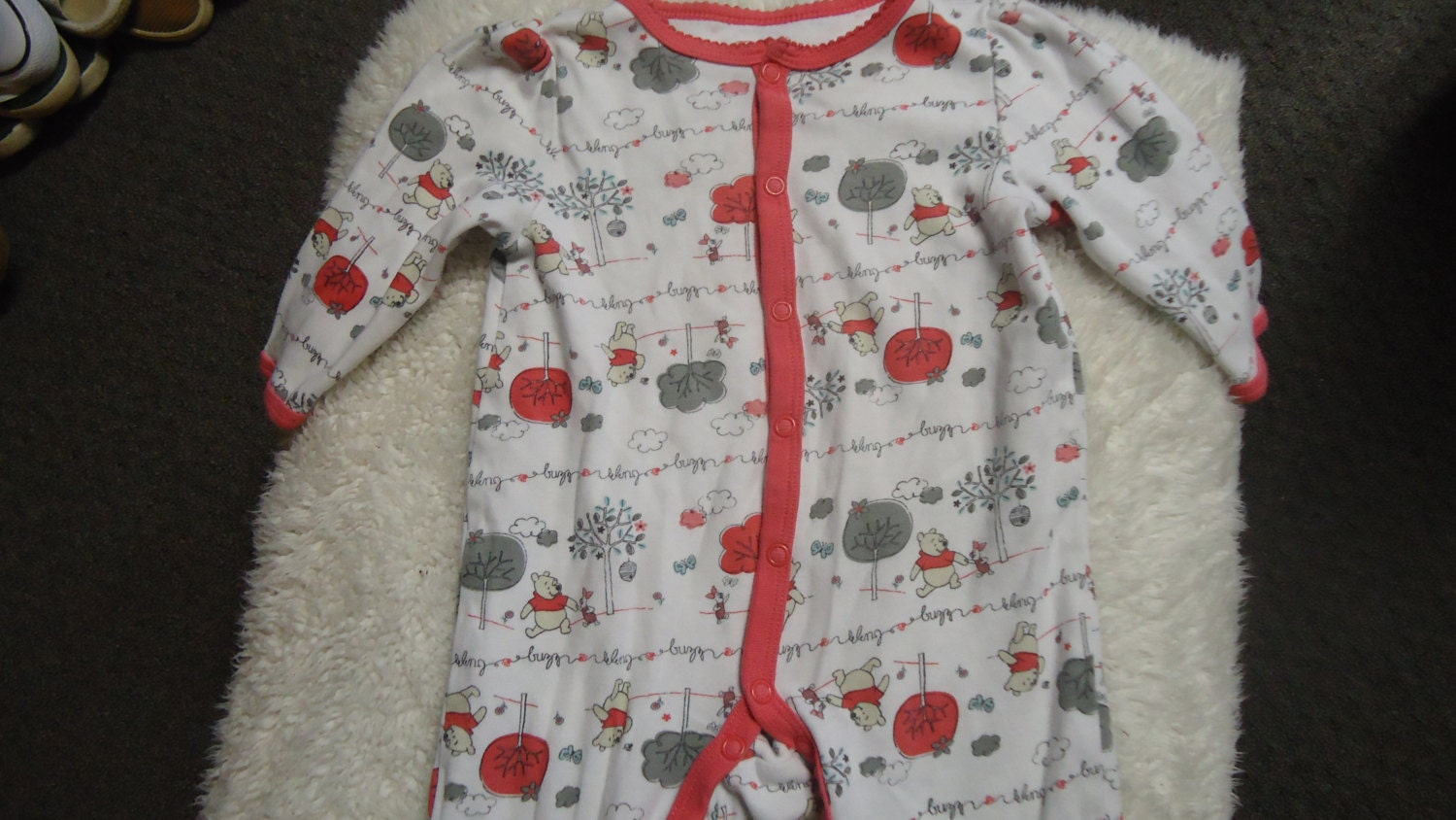 Winnie The Pooh Amp Piglet Too Baby Size 6 Months Pajamas