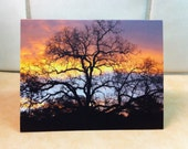 Set of 3 Note Cards Beautiful Fall Sky, Sunrise Photo Notecards, California Foothills, Ready to Ship