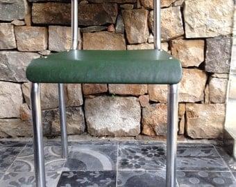 Industrial vintage green chair