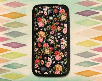 Lovely Black Floral Case For The Samsung Galaxy S4 or S5