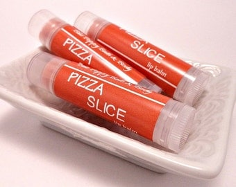Pizza Slice Lip Balm, Teen Gift Idea, Stocking Stuffer, Gift Under 5, Novelty Gift, Gift Exchange, Pizza Lip Balm