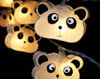 20 Panda Lanterns String Lights Fairy,Kid's Room Home Lighting Home Decor