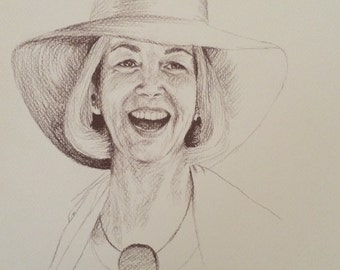 Hand-Drawn Custom Memorial Portrait