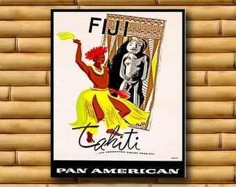 Fiji Art Travel Poster Wall Print Decor (AJT12)