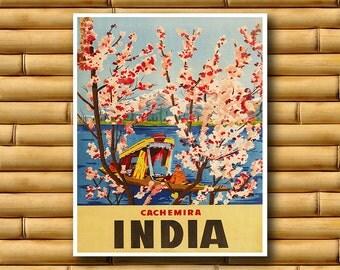 Art India Travel Poster Asian Wall Decor Indian Print (AJT54)