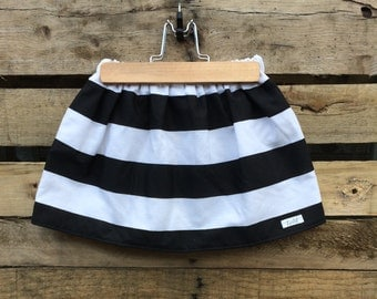 CHIC CHICK // black and white skirt // baby and toddler skirt