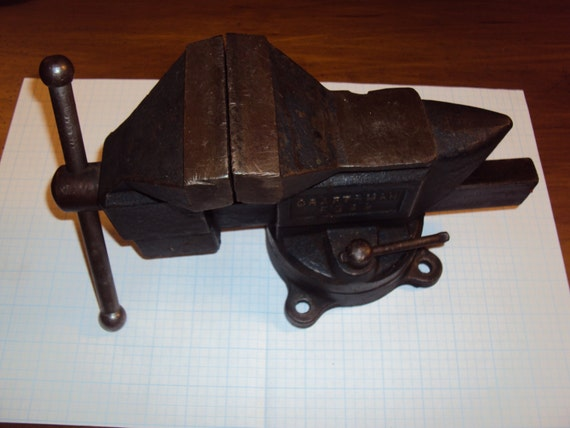 Vintage Craftsman 3 1 2 Bench Vise Great Used