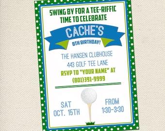 Golf Party Invitation - Mini-Golf Party Invitation -  Customizable - You Print