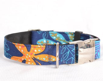 Dog Collar with Personalized Buckle,Fabric 32