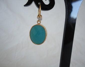 Earrings green Crystal Mint