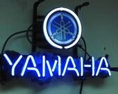 "New YAMAHA Motorcycle Racing Neon Light Sign 14""x 8"" [High Quality]"