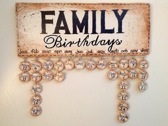 Family Celebrations Plaque Family Birthdays Plaque