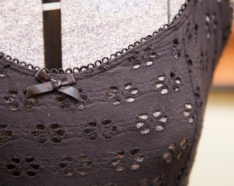 Vintage Betsey Johnson Beach Cover Up Black Dress