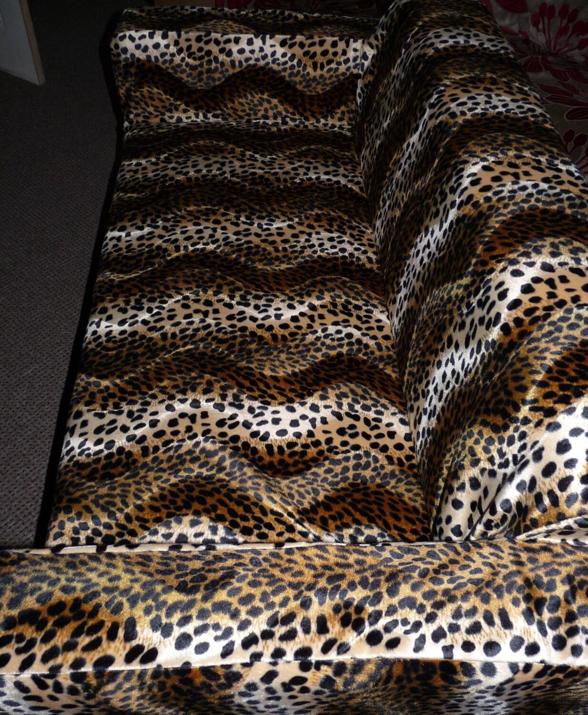 Slip Cover To Fit The Ikea Klobo Sofa In Faux Fur Animal Print
