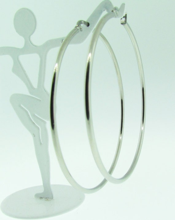 large white gold hoop earrings. Black Bedroom Furniture Sets. Home Design Ideas