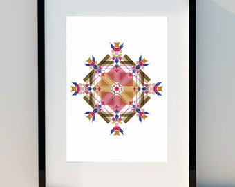 """Geometric poster """"Initially"""" Art for home, Poster, home, wall decor, Print Design, A2, A3 or A4"""