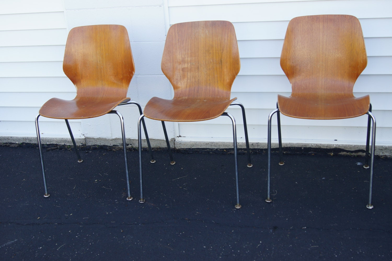 Westnofa Bentwood Chair Chrome Mcm Eames Miller Era Mid