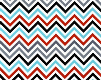 Robert Kaufman Remix Celebration Zig Zag Chevron 100% Cotton by Ann Kelle
