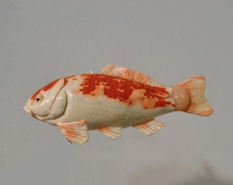 Popular items for unique collectable on etsy for Clay koi fish