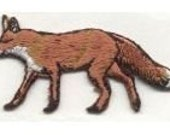 Brown Fox Animals Nature Realistic Iron-on patch Sew on embroidered patches sew-on by capital city patch CO