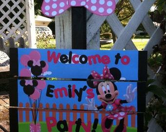 Minnie Mouse  Birthday Yard Sign