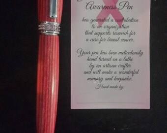 Breast Cancer Awareness Pen Silver/Pink/Pink