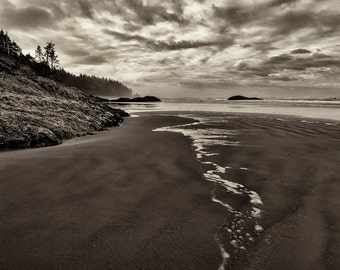 Beach Photography, Landscape, Fine Art Photography, Zen, Black and White Photography, Nature, Wall Art, Home Decor, Ocean, Monochromatic