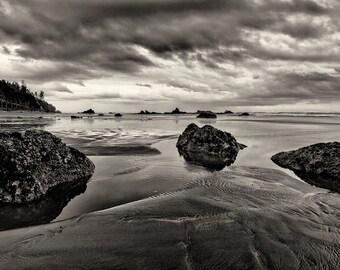 Beach Photography, Art, Fine Art Photography, Zen, Black and White Photography, Landscape, Nature, Wall Art, Home Decor, Ocean, Monochrome