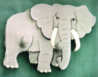 Elephant Folk Art Painting Pattern
