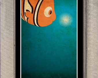 Disney Pixar movie poster - Finding Nemo