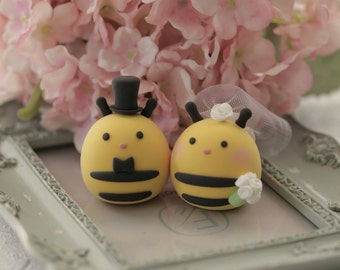 Bees wedding cake topper