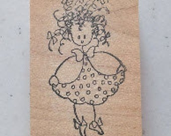 Doodle Girl Rubber Stamp - 20M02