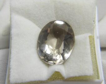 Clear Quartz, Quartz Crystal, Quartz, Faceted Gemstone, Faceted Quartz, Quartz Jewelry, Healing Stone,  17 x 13 mm 11.85 Carats  #364