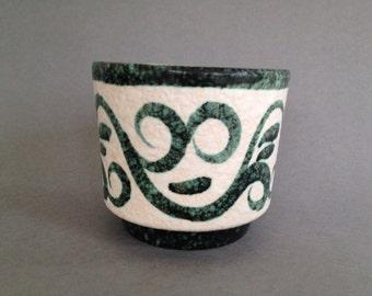Ruscha keramik Planter Vintage Mid Century 1960s - 1970s West Germany pottery, WGP.