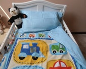 2 Piece Crib/Toddler Bedding Set - Duvet Comforter Cover and Pillowcase