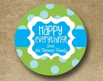 Birthday Gift Stickers, Personalized Stickers, Birthday Favor tags, Birthday Favor stickers, Gift Bag Stickers, Custom Kids Birthday