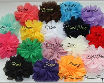 Ballerina Flowers, You Choose Color, Fabric Flowers, Tutu Flowers, Wholesale, Chiffon Flower, DIY