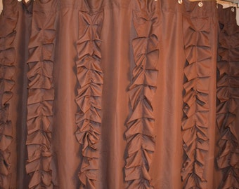 Ruffle Curtains Anthropology Inspired Curtains Shower Curtain Ruffle Shower Curtain