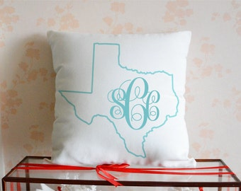 Long Distance Pillow Cover Custom State To State - Us map pillow personalized