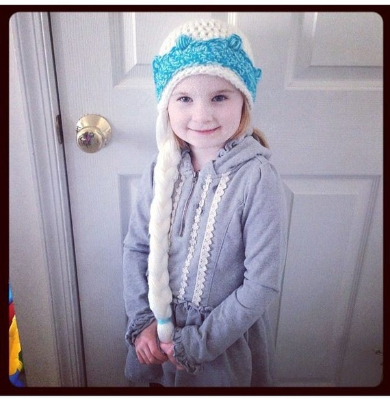 Free Crochet Pattern Frozen Elsa Hat : Items similar to Elsa from DISNEYS FROZEN Hat! on Etsy