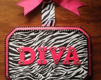 DIVA Zebra Hair Bow Holder