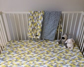 Organic fitted cot sheet. Made-to-order custom. Modern organic baby fitted cot crib sheet by Avie and Mabel