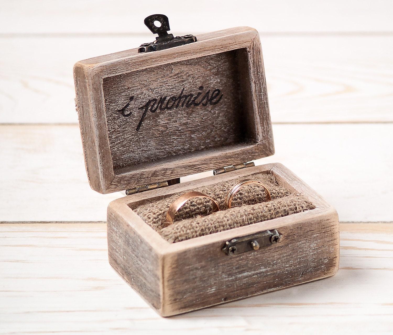 Ring bearer box wedding ring box rustic wedding ring holder for Custom made ring box